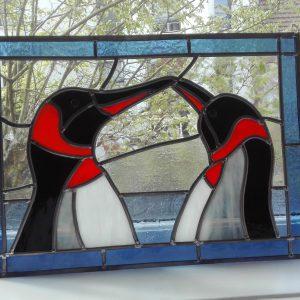 Twee pinguins